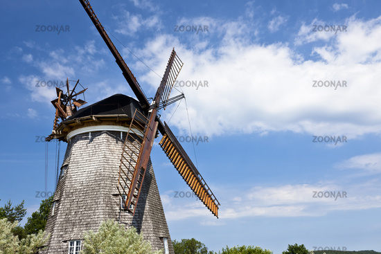 Historic windmill on the island usedom