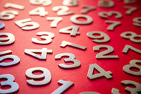 Mathematics background made with solid numbers