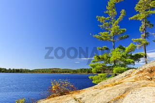 Lake shore in Ontario, Canada