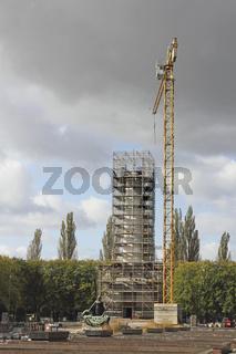 Restaurierung des Sowjetischen Ehrenmals Schönholz in Berlin-Pankow