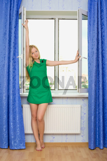 Beautiful Girl Next Window