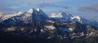 Famous mountain range Eiger, Monch and Jungfrau.