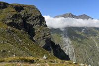 Alpine landscape at the summit Roc de la Vache, Zinal, Val d'Anniviers, Wallis, Switzerland