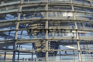 Reichstagskuppel , Detailaufnahme , Reichstag Berlin, Architekt
