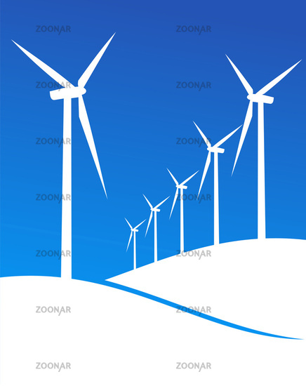 Eco windmills illustration