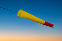 windsock in a strom