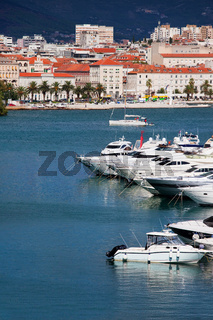 Yachts on the Adriatic Sea in City of Split