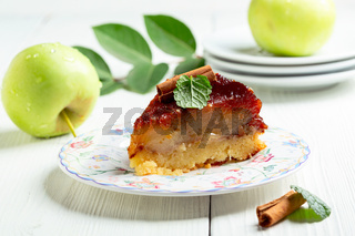 Piece of apple pie inside out.