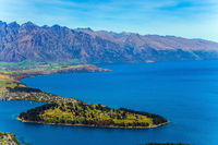 Azure lake among the mountains