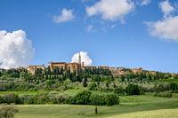 PIENZA, TUSCANY, ITALY - MAY 19 : View of Pienza in Tuscany  on May 19, 2013