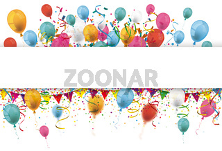Confetti Balloons Ribbons Festoon Long Header
