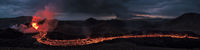 Fagradalsfjall volcanic eruption in the night, Iceland