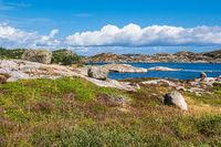 Landschaft auf der Schäreninsel Skjernøya in Norwegen