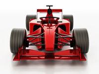 Generic Formula 1 racing car isolated on white background. 3D illustration