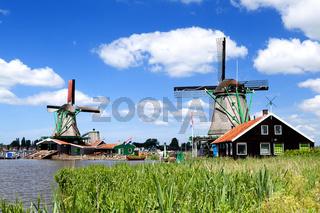 traditional windmill in Zaanse Schans