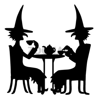 Witch Silhouette, Tea Time