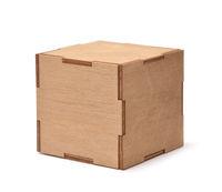 Decorative cubic plywood box