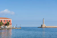 Lighthouse of Chania on Crete, Greece