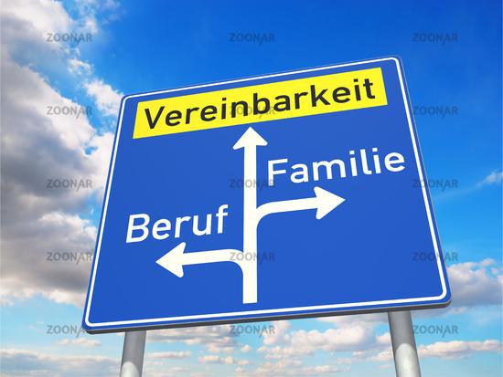 Work-life balance (in German: Vereinbarkeit von Beruf und Familie)
