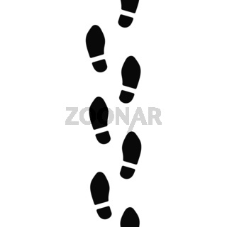 Man's footsteps prints in shoes, simple seamless pattern