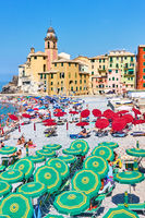 Beach in Camogli, Genoa
