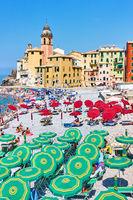 Beach in Camogli, Genoa