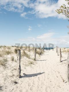 Weg zum Strand, Graswarder in Heiligenhafen