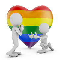 Two fpeople and heart lgbt