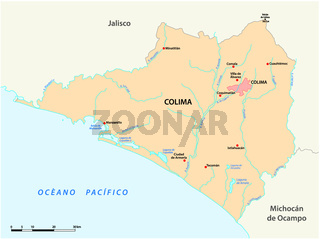 vector map of the Mexican state of Colima.eps