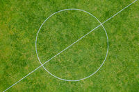 Soccer Field Centre Circle Aerial View