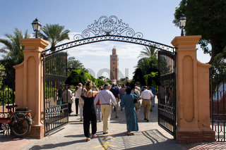 Park of the Koutoubia mosque in Marrakech