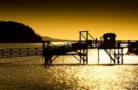 Boardwalk at sunrise