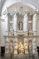 Julius Tomb with statue of Moses by Michelangelo in the Church of San Pietro in Vincoli in Rome