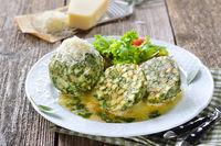 South Tyrolean spinach dumplings
