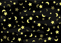Seamless Baby Pattern with Yellow Stars