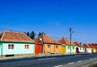 romania coloured house street