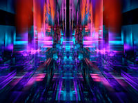Multicolor technology style background - abstract 3d illustration