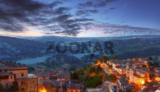 Night Stilo village, Calabria, Italy.