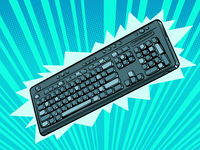 computer wireless keyboard. An accessory for a personal computer. Gamers