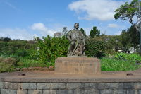 Madeira, Columbus Monument. Park in Funchal