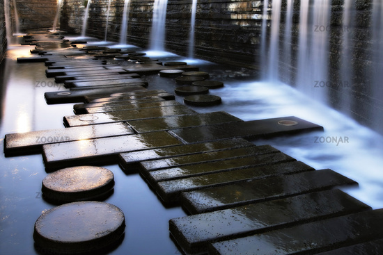 Water garden, Landsweiler-Reden, Saarland, Germany