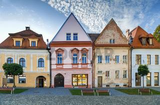 Historical houses, Bordejov, Slovakia