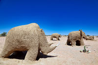 sand figures at the road in Namibia