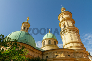 Mausoleum of Franz Ferdinand II on a sunny day with blue sky in Graz, Styria, Austria