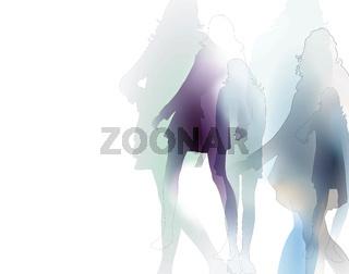 frauen-grafik-mode-silhouetten