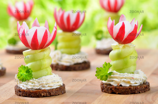 Appetizers with cream cheese
