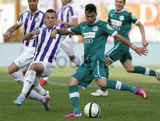 Ujpest vs. Gyori ETO OTP Bank League football match