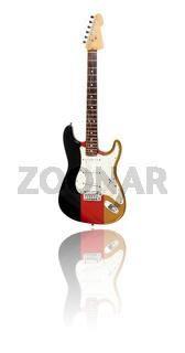 E-Gitarre mit Spiegelung, Deutsche Flagge