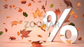 White Percent Autumn Foliage