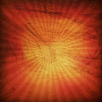 Grunge red sunburst background.